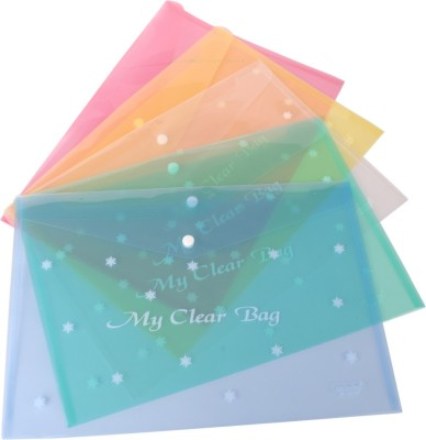 DataKing Polypropylene My Clear Bag With Star Print - Multicolor