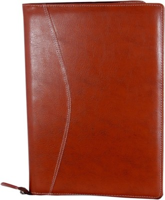 MagPie Faux Leather Collections Executive File Folder Tan Color