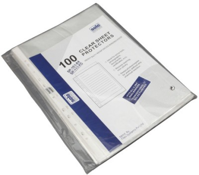 Solo Sheet Protector(Set Of 100, Transparent)