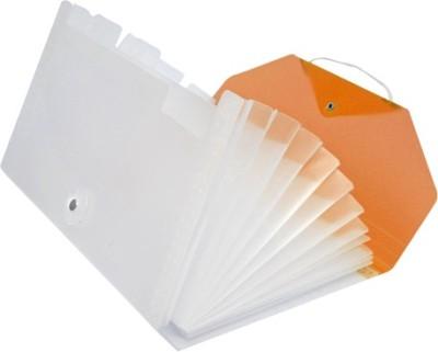 Easyhome 12 Pocket Chequebook Size Orange Plastic organiser