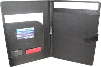 hide and sleek Leather Folder
