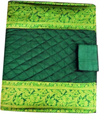 Indha Craft Dupion Silk Paper Conference File(Set Of 2, Green)