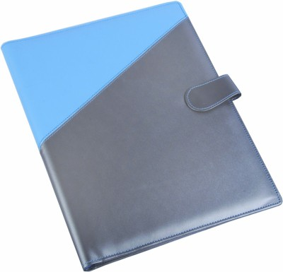 Coi Leatherite Blue And Silver Corporate Document Folder