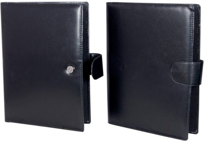 MagPie Faux Leather Conference Folder Set of 2 (Black)