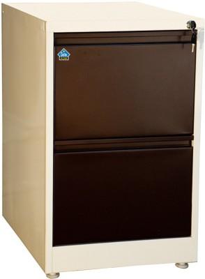 Delite Kom Metal Vertical Filing Cabinet(Finish Color - Ivory_Coffee)