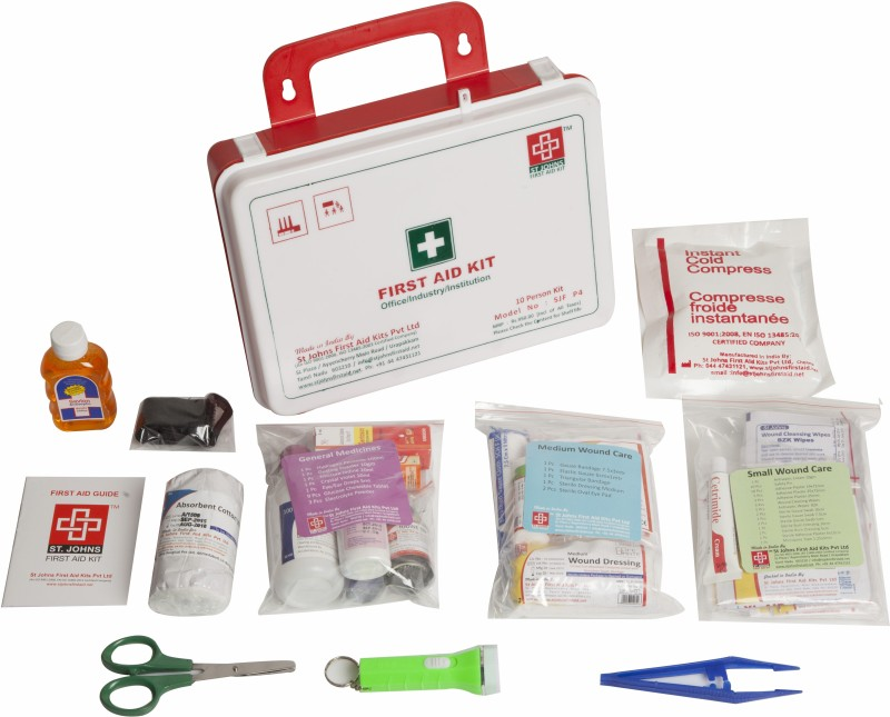 ST JOHNS FIRST AID SJF P4 First Aid Kit(Workplace, Vehicle)