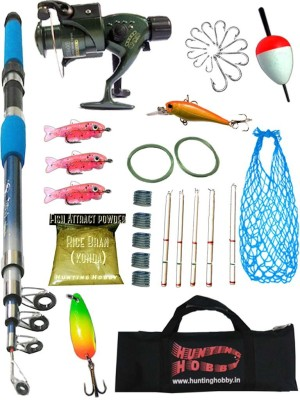 HUNTING HOBBY OSP Fishing 7Ft Rod,Reel,Accessories Complete Kit Fishing Rod(210 cm .170 kg)