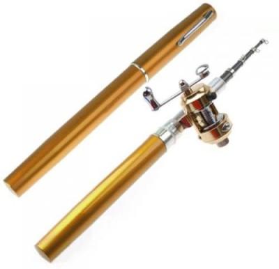 Shrih Golden Mini Pocket Aluminum Alloy Fish Pen Pole SH - 02452 Fishing Rod(91 cm 0.500 kg)