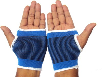 New Life Enterprise Elastic Palm Wrist Support Grip Protection For Healing/sports Set Fitness Band(Blue, Pack of 1)
