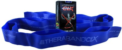 Theraband Latex Free CLX Consecutive Loops,Individual 5 Foot Pre-Cut, 9 Loops, Intermediate Level 2, Extra Heavy, Blue Resistance Band