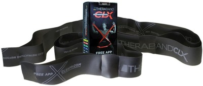 Theraband Latex Free CLX Consecutive Loops,Individual 5 Foot Pre-Cut, 9 Loops, Advanced Level 1, Special Heavy, Black Resistance Band