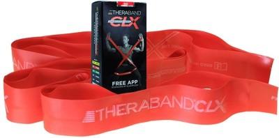 Theraband Latex Free CLX Consecutive Loops,Individual 5 Foot Pre-Cut, 9 Loops, Red, Medium, Beginner Level 3 Resistance Band