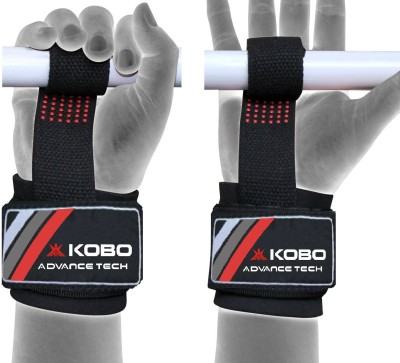 Kobo Gel Padded Weight Lifting Gym Straps Wrist Support Hand Grip
