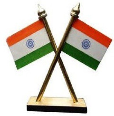 De Ultimate India Double Sided Wind Car Dashboard Flag Flag