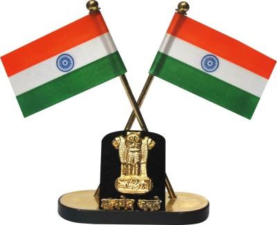 Celebrate India India Double Sided Wind Car Dashboard Flag Flag