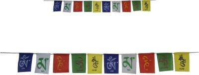 Divya Mantra Tibetan Buddhist Prayer Set (COM197) Rectangle Outdoor Flag Flag
