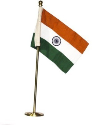 JV9 India Rectangle Table Miniature Flag