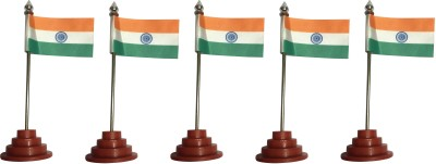Anil Bhai Rakhi Wala India Double Sided Wind Table Miniature Flag(Nylon)