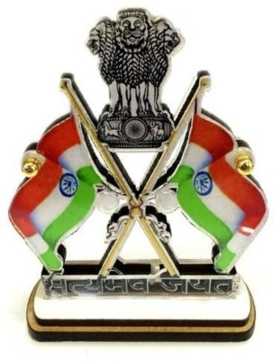 Tulsae India Rectangle Car Dashboard Flag Flag(Rayon)