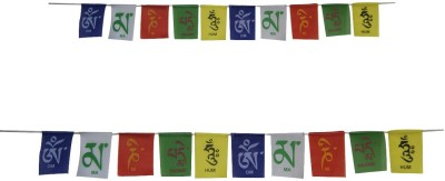 Divya Mantra Tibetan Buddhist Prayer Set (COM195) Rectangle Outdoor Flag Flag