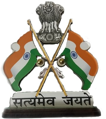 DecorMyCar India Double Sided Wind Car Dashboard Flag Flag
