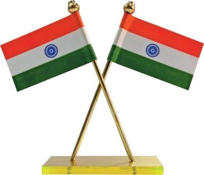 Bulb Centre India Double Sided Wind Car Dashboard Flag Flag