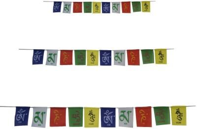 Divya Mantra Tibetan Buddhist Prayer Set (COM196) Rectangle Outdoor Flag Flag