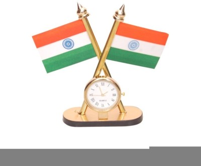 Onlineshoppee India Double Sided Wind Table Miniature Flag(Metal)