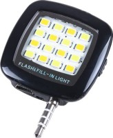 Mobi Vastra Portable Mini 16 LED Night Using Selfie Flash for all smartphones & apple phones Flash(Black)