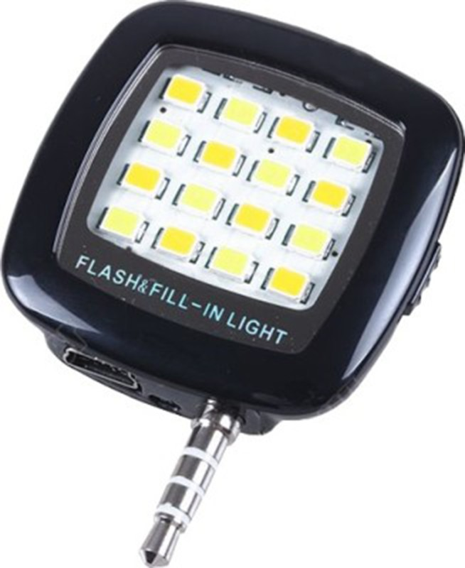 Mobi Vastra Portable Mini 16 LED Night Using Selfie Flash for all smartphones & apple phones Flash(Black)