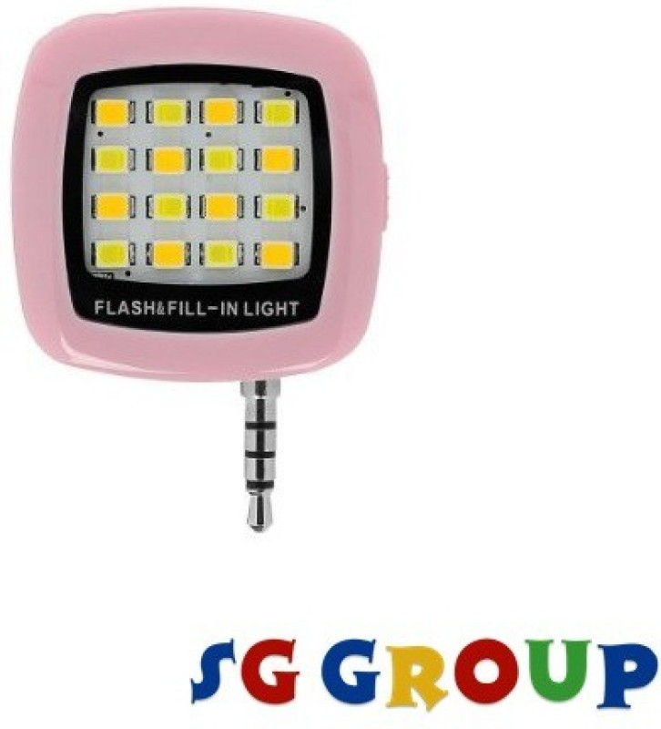 Sg Group 16 LED Mobile Selfie X200 Flash(Pink)
