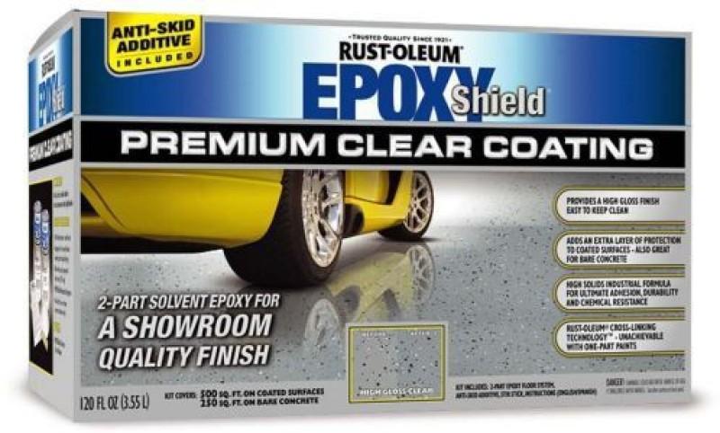 Rust-Oleum EpoxyShield-Premium-Clear-Coating Epoxy Floor Coating Paint(3.55 L)