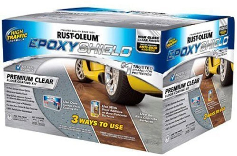 Rust-Oleum EpoxyShield-Low-VOC-Premium-Clear-Coating Epoxy Floor Coating Paint(3.55 L)