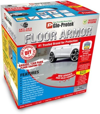 Glo-Protek Floor Armor - Garage / Car Park Floor Coating Kit Epoxy Floor Coating Paint(5.00 L)