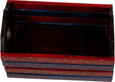 Rajrang WOD01032 Wooden Flower Basket without Artificial Flower & Plant(W: 18 cm x H: 14 cm x D: 29 cm)