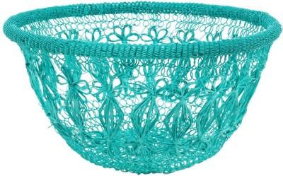 Chumbak CHDEHDBJIC8T2PN Iron Flower Basket without Artificial Flower & Plant(W: 25 cm x H: 11 cm x D: 10 cm)