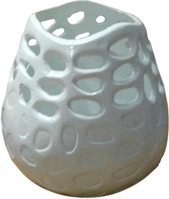 Naim Sons NSE4314 Silver Flower Basket without Artificial Flower & Plant(W: 30 cm x H: 25 cm x D: 25 cm)