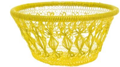 Chumbak CHDEHDBJIC8Y1PN Iron Flower Basket without Artificial Flower & Plant(W: 25 cm x H: 11 cm x D: 10 cm)
