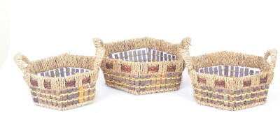 Scrafts SCPL022 Bamboo Flower Basket without Artificial Flower & Plant