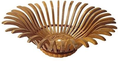 Chilifry CFI-0118 Wooden Flower Basket without Artificial Flower & Plant(W: 33 cm x H: 11 cm x D: 33 cm)