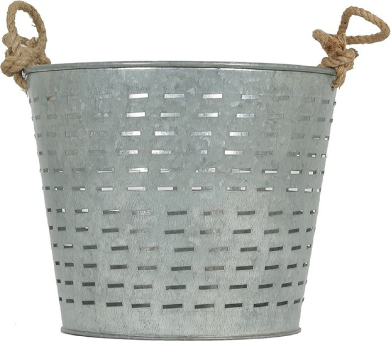 Yudezine 57 Iron Flower Basket without Artificial Flower & Plant(W: 13.5 cm x H: 12 cm x D: 13.5 cm)
