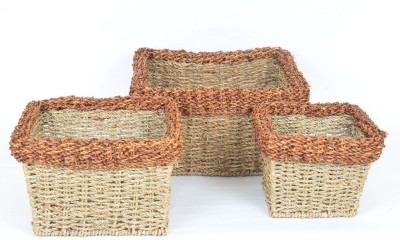 Scrafts SCPL020 Bamboo Flower Basket without Artificial Flower & Plant