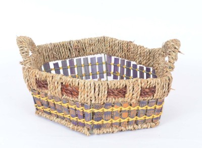 Scrafts SCPL031 Bamboo Flower Basket without Artificial Flower & Plant