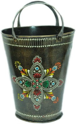MohanJodero MJMHFV010 Iron Flower Basket without Artificial Flower & Plant