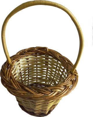 swadesibuyzzar Basket Cane Flower Basket without Artificial Flower & Plant