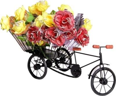 Wood Beauty 8122 Iron Flower Basket without Artificial Flower & Plant(W: 25 cm x H: 10 cm x D: 8 cm)