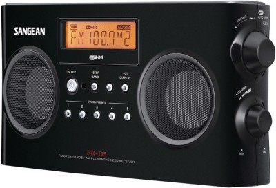 Sangean PR-D5BK AM/FM Portable Radio with Digital Tuning and RDS FM Radio