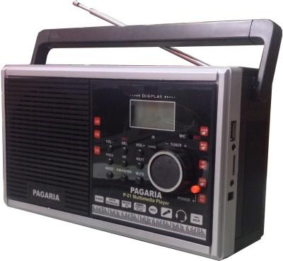 Pagaria P-21 Multimedia With USB FM Radio (Black)