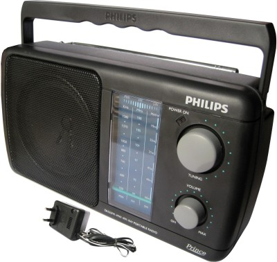 Philips DL-225 With Inbuilt-Rechargeable Battery FM Radio(Black)