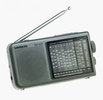 Sangean Fm 12 Band Shortwave World Band Radio FM Radio(Silver)